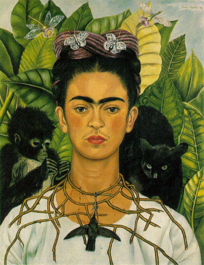 Self-Portrait with Necklace of Thorns, 1940.